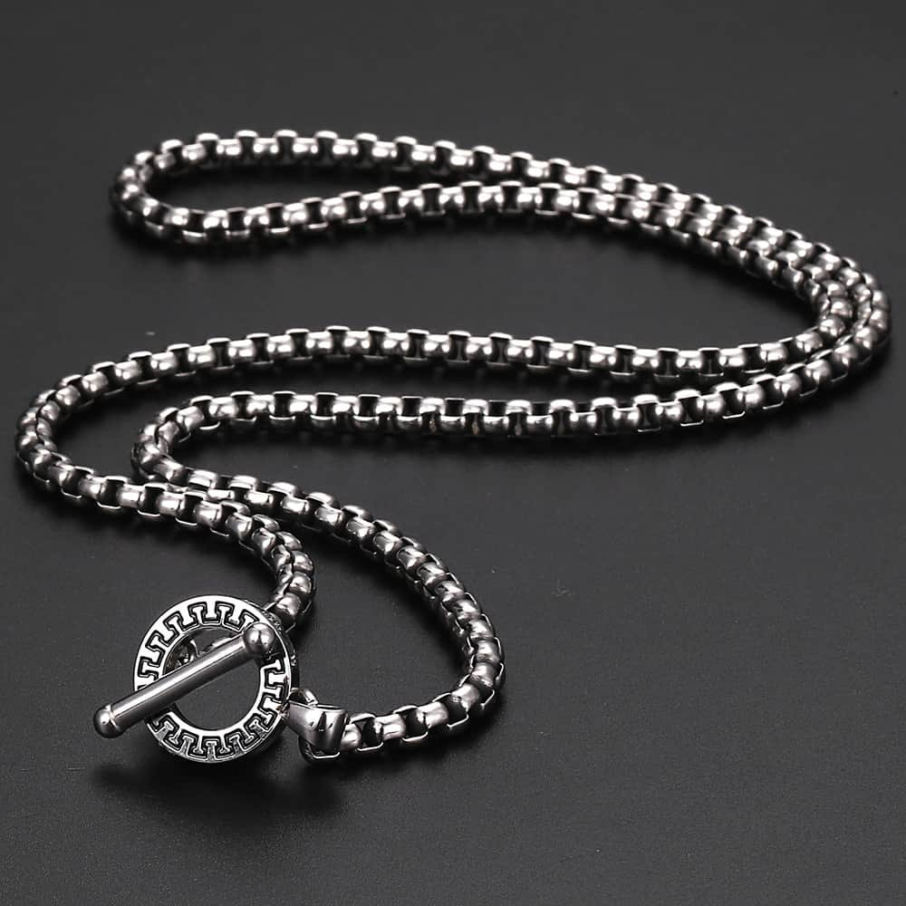"""Trendsmax 4mm Stainless Steel Box Link Chain Necklace Mens Womens Jewelry 18-36/"""""""